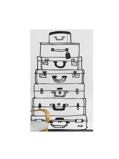 Suitcases muursticker