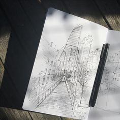 NYC sketch sketchbook by artvalerim