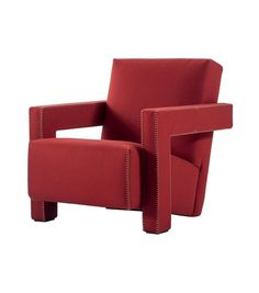 Buy the Utrecht armchair by Cassina from our designer Lounge Seating collection at Chaplins - Showcasing the very best in modern design. Utrecht, Italian Furniture Brands, Contemporary Armchair, Italian Sofa, Rustic Home Interiors, Red Sofa, Lounge Seating, Lounge Chairs, Single Sofa