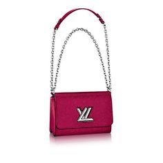 Authentic Louis Vuitton Epi Leather Twist MM Handbag Article: M51006 Fuchsia Made in France: Handbags: Amazon.com