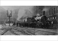 The last broad gauge train leaving Paddington Station, 29th May 1892 The service is the 5pm to Plymouth, and the locomotive is Bulkley. British History, Locomotive, Plymouth, Gauges, About Uk, Museum, Leaves, Train, Prints