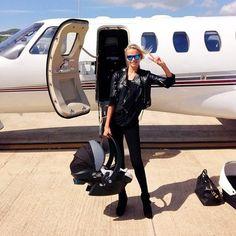Natasha Poly, travelling with style.