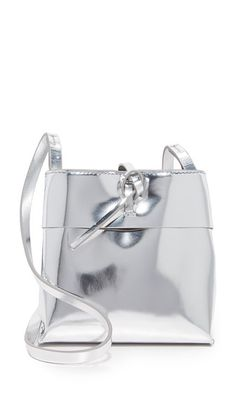 KARA Mirrored Nano Tie Cross Body Bag