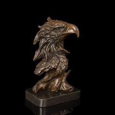 Eagle Head Bronze Bust