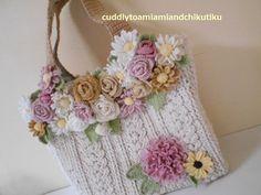Crochet Pouch, Crochet Purses, Crochet Flower Tutorial, Crochet Flowers, Hobbies And Crafts, Diy And Crafts, Crochet Placemats, Wool Art, Irish Lace