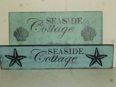 SEASIDE COTTAGE SIGN / shabby beach cottage chic by SophiesCottage, $29.95