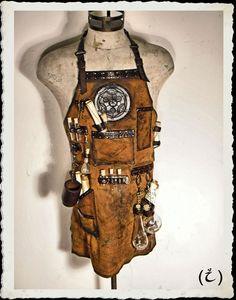 Schürze - Alchemist - Steampunk - Leder