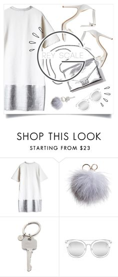"""""""Holiday Party: Silver Bells"""" by brynhawbaker ❤ liked on Polyvore featuring beauty, Loeffler Randall, Dena, Paul Smith, Quay, Alexandre Birman and Old Navy"""