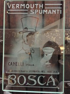 Vintage glass piece | Bosca advert | #vintage #sparkling #wine #advertise