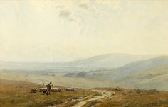 Gerald Ackermann, R.I — UK) The Southdowns. watercolour 32 x cm. x 19 in. Watercolor Artists, Watercolor Landscape, Artist Painting, Watercolor Paintings, Watercolours, Landscapes, Drawing Drawing, Paisajes, Watercolour Paintings