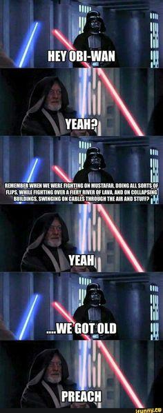 Star Wars Meme, Star Wars Saga, Star Trek, Obi Wan Lightsaber, Lightsaber Fight, Bob Anderson, Nostalgia Critic, Funny Cartoons, Funny Jokes