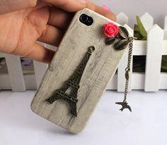 Eiffel TowerbirdIphone Case iPhone 4 Case iphone 4 by FingertipElf, $8.99