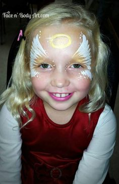 Angel face painting# by shawna del real