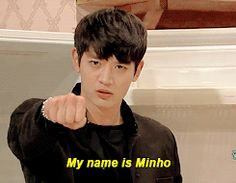 SHINee on 'SNL Korea'   Yeah Yeah your name is Minho we know it  X) <3 So hot in black :)
