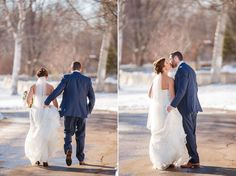 Winter wedding in Charlottetown, PEI. Photo by Brady McCloskey Photography