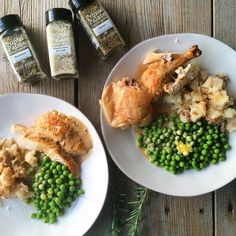 @hayleymason made us dinner tonight and it was so fantastic!  #  The main course was a roasting chicken treated to three of our savory pack flavors: French Grey Sea Salt Rosemary and Thyme. And the chicken was also stuffed with a whole lemon. The pan was