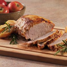 Roasted Pork With Pink Lady Apples : mamafrancescacheese  #Fall