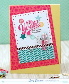 It's Your Birthday Card by Betsy Veldman for Papertrey Ink (March 2015)