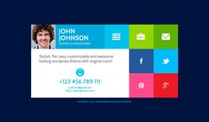 Buy FlatCV - vCard Resume PSD Template by ThemeREX on ThemeForest. Flat CV is a unique multipurpose vCard! Flat CV perfectly suits for placing your personal information: your skills, l. Web Design, Flat Design, Stylish Themes, Great Website Design, Interface Web, John Johnson, Online Resume, Tech Branding, Responsive Layout