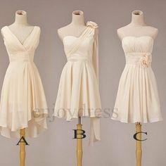 Kurze Brautjungfernkleider Elfenbein