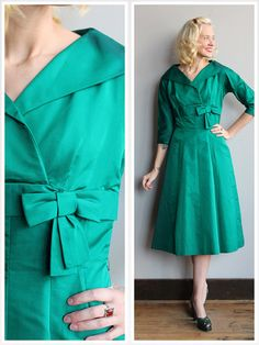 1960s Dress // Emerald City Dress // vintage by dethrosevintage