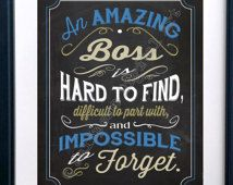 An Amazing Boss is hard to find Printable Quote Farewell Goodbye Gift - Quote…