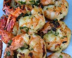 Marinated Grilled Shrimp with Sweet Chili and Basil