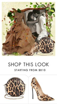 """""""You Are My Sunshine"""" by lucky-ruby ❤ liked on Polyvore featuring Stephane Rolland, Dolce&Gabbana, Casadei, love, brown, couples, behatiprinsloo and BrownAndLeopard"""
