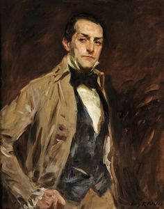 Irving Ramsey Wiles (American, 1861-1948).  The Actor.  an art collection.