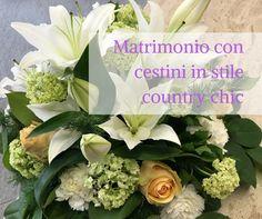 Matrimonio con cestini in stile country chic