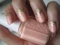 Neutral pink nail polish by Essie.