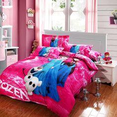 Disney Frozen bedding set Princess Elsa & Anna Olaf comforter bed sheet twin/Full/queen/king size.This frozen comforter set is Good For frozen room decor.