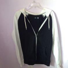 BDG Black & White Hoodie Brand New BDG Hoodie Jacket from Urban Outfitters size S/M Urban Outfitters Jackets & Coats