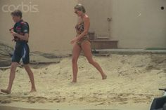 Princess Diana with Prince Harry ~ St. Tropez ~ summer 1997 just prior to Diana's August death.