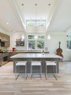 Pella Windows, Clerestory Windows, Dormer Windows, Contemporary Windows, Contemporary Design, Concrete Countertops, Kitchen Countertops, Kitchen Reno, Kitchen Design