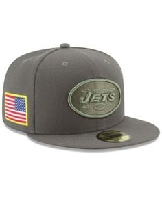New Era New York Jets Salute To Service 59FIFTY Fitted Cap - Brown 7 1/4