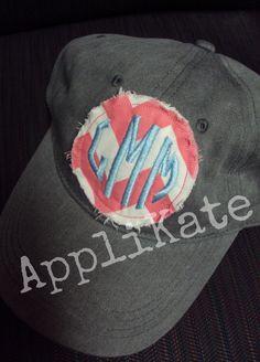 54ec6f6cb9c31 Items similar to Preppy Monogrammed Personalized Baseball Cap hat on Etsy
