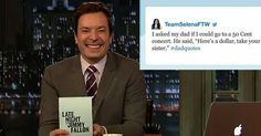 Jimmy Fallon's #DadQuotes hashtag brings the funniest dad quotes from Twitter into one hilarious space - the Tonight Show. These are HYSTERICAL!