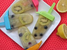 Fruity Lemonade Ice Pops on Weelicious