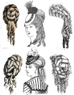 These are some different ways, how my wife, Annie, would have her hairs. Those styles are very hard to make! 1800s Hairstyles, Historical Hairstyles, Victorian Hairstyles, Modern Hairstyles, Vintage Hairstyles, Wig Hairstyles, Beehive Hairstyles, Victorian Era, Victorian Fashion