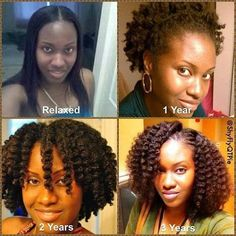 Variation of hairstyles through 3 years of hair growth