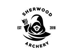 Sherwood archery concept by shmartstudio Logos, Typography Logo, Logo Branding, Branding Design, Stationery Design, Archery Logo, Logo Luxury, Web Design Mobile, Learning Logo