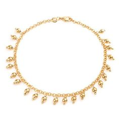 Bling Jewelry Gold Filled Anklet 5mm Dangling Beads Ankle Bracelet 10in * Learn more @ http://www.amazon.com/gp/product/B00I5PMF7I/?tag=splendidjewelry07-20&pxy=160716234539