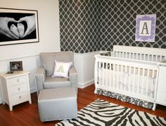 Pretty baby girl nursery