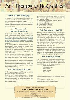 Art Therapy with Children #arttherapy; #specialneeds; #autism; #adhd; #children