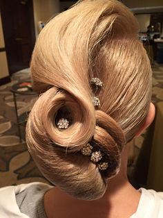 by purple tiger Dance Hairstyles, Wedding Hairstyles, Quinceanera Hairstyles, Celebrity Hairstyles, Vintage Hairstyles, Dance Competition Hair, Rockabilly Hair Tutorials, Angelo Seminara, Ballroom Dance Hair