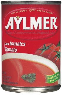 Coupons et Circulaires: .34¢ Soupe aux Tomates AYLMER