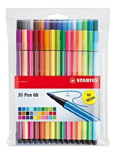 STABILO Fasermaler Pen 68, 30er Kunststoff-Etui - par 1 - Feutres de coloriage, Stabilo Stabilo http://www.amazon.fr/dp/B00HH32BH8/ref=cm_sw_r_pi_dp_Mt40ub0PMH0KH