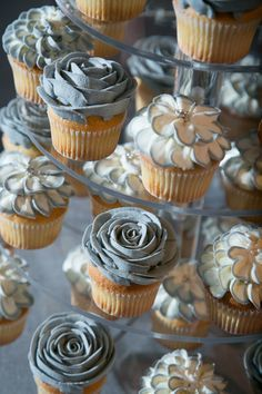 Elegant Gray Frosted Floral Wedding Cupcake Idea! Grey Wedding | Grey Bridal Earrings | Grey Wedding Jewelry | Spring wedding | Spring inspo | Grey | Silver | Spring wedding ideas | Spring wedding inspo | Spring wedding mood board | Spring wedding flowers | Spring wedding formal | Spring wedding outdoors | Inspirational | Beautiful | Decor | Makeup |  Bride | Color Scheme | Tree | Flowers | Wedding Table | Decor | Inspiration | Great View | Picture Perfect | Cute | Candles | Table…