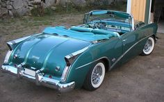 1954 Buick Skylark Convertible | More here: http://mylusciouslife.com/stylish-home-luxury-garage-design/